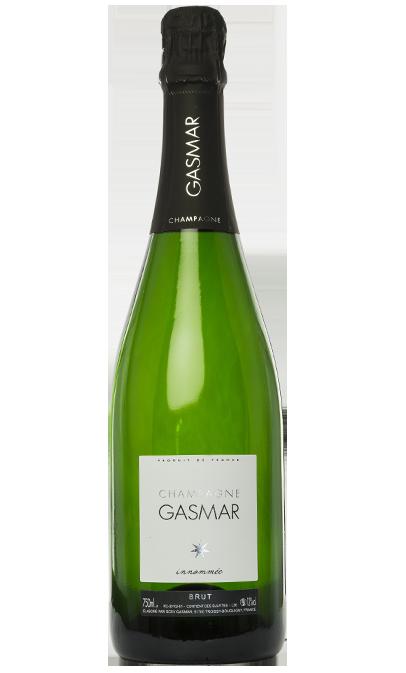 Bouteille de champagne Gasmar innommée à Bouquigny Troissy dans la Marne