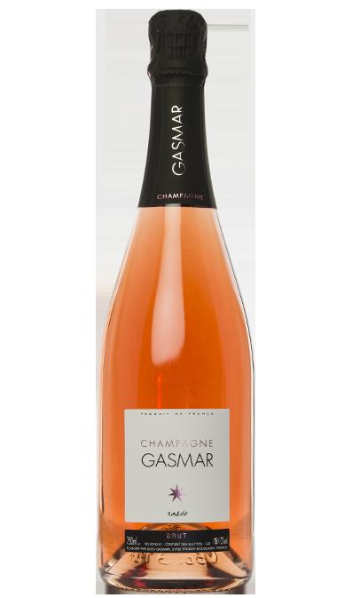 Bouteille de champagne rosée Gasmar à Bouquigny Troissy dans la Marne