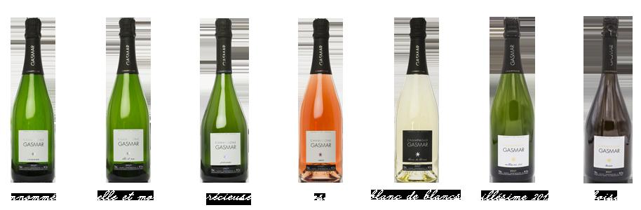 Le champagne GASMAR situé à Troissy-Bouquigny, au cœur de la vallée de la marne entre Epernay et Dormans, vous propose une gamme de 5 champagnes