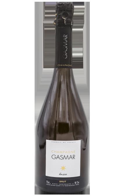Bouteille de champagne Gasmar boiséee à Bouquigny Troissy dans la Marne